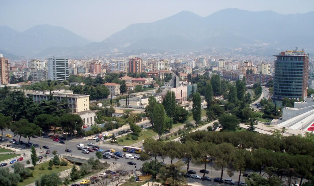 Tirana, Albania, view Sky Tower