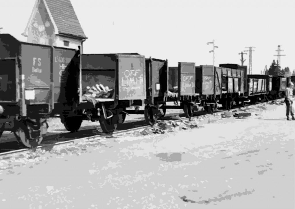 The death train in Dachau, April 30, 1945