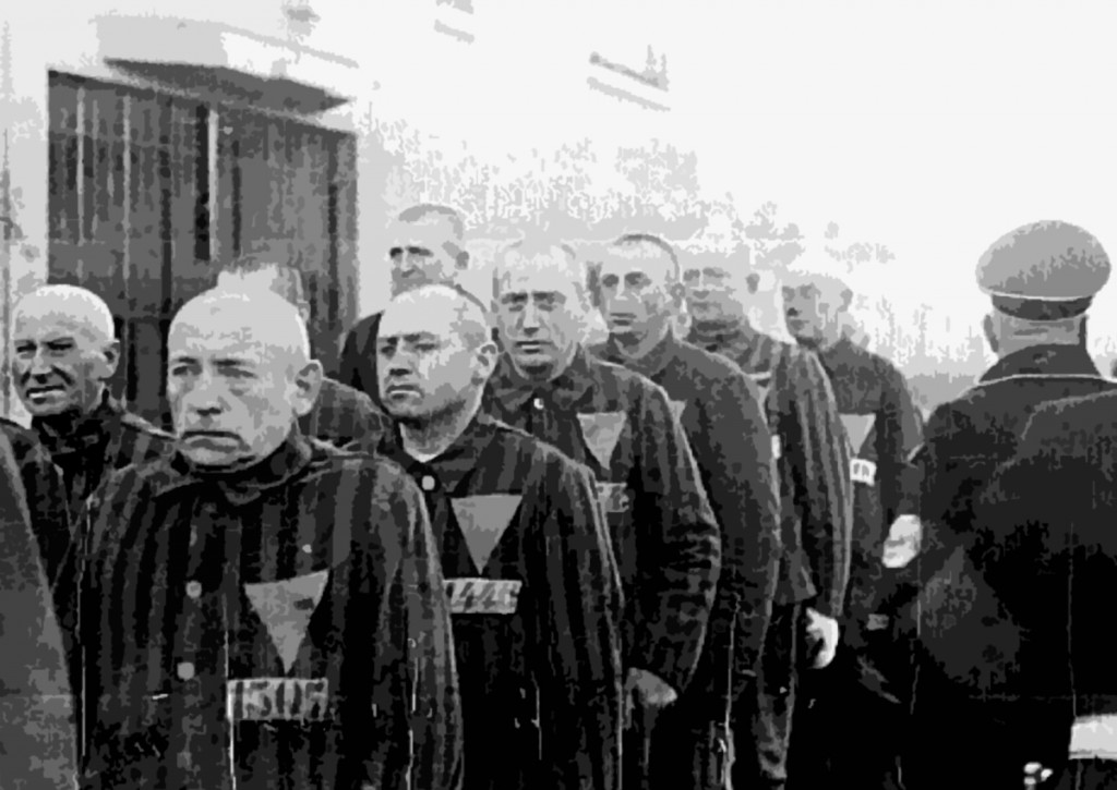 Prisoners in the concentration camp at Sachsenhausen, Germany, December 19, 1938