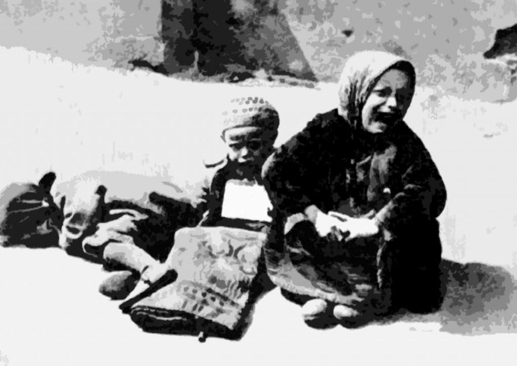Warsaw ghetto, 1941. Homeless children