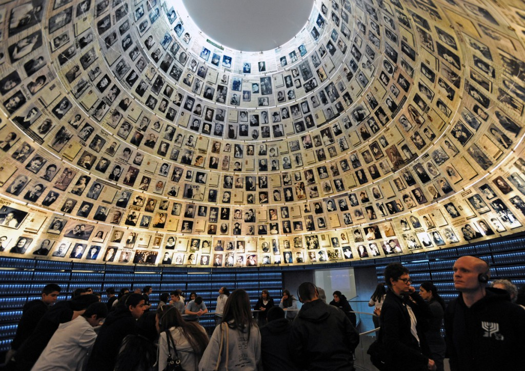 Tourists visit the Hall of Names in the Yad Vashem Holocaust Museum, May 1, 2011, in Jerusalem, on the eve of Israel's Holocaust Remembrance Day