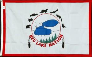 Red Lake Nation flag
