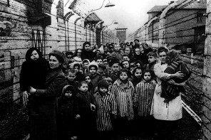Auschwitz-Birkenau survivors when the camp was liberated by Russian troops in 1945