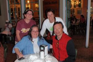 Trish Collopy, Cheryl Redinger, Laura Funke. Tom Reis 2011 Biloxi Trip