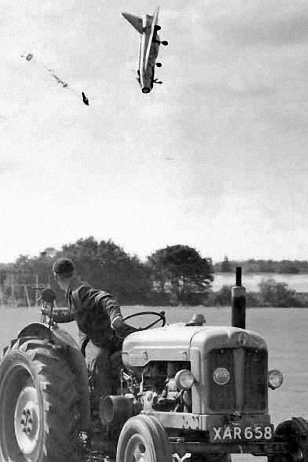 George Aird ejects from jet, 1962