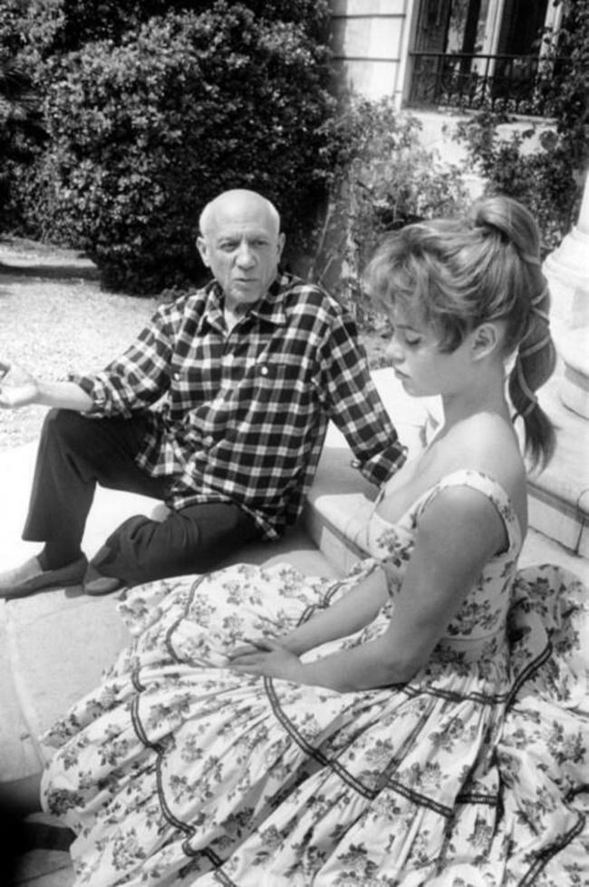 Picasso and Bardot, 1956