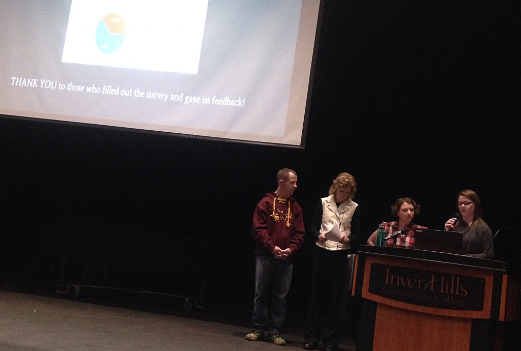 PTK HIA team presenting to Inver Hills faculty and administrators