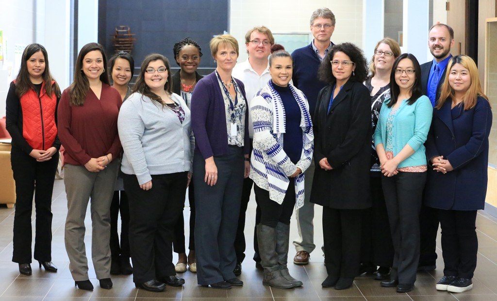 (left to right) Arcelia Hernandez Ramirez, Ruby Murillo, Salina Sok, Lillian Conely, Maayuk Eta, Lisa Pike, Brent Lundell, Dominique Dailey, Tim Wynes, Dionna Jones, Michelle Theisen, Vicky Jonathan, Matt Kruger, Jinhua Freeman