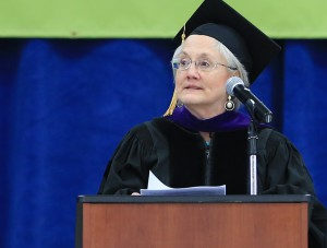 Patricia Buss speaking at 2016 Inver Commencement