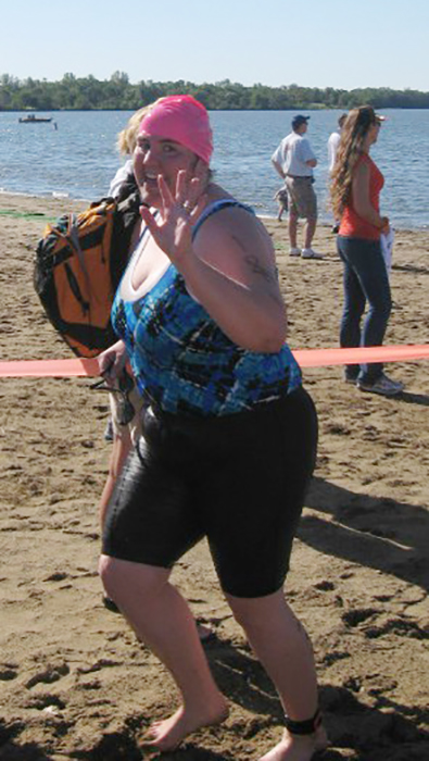 Wendy at a triathlon