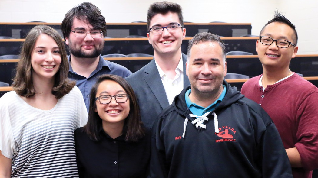 Maggie with Student Senate in 2015