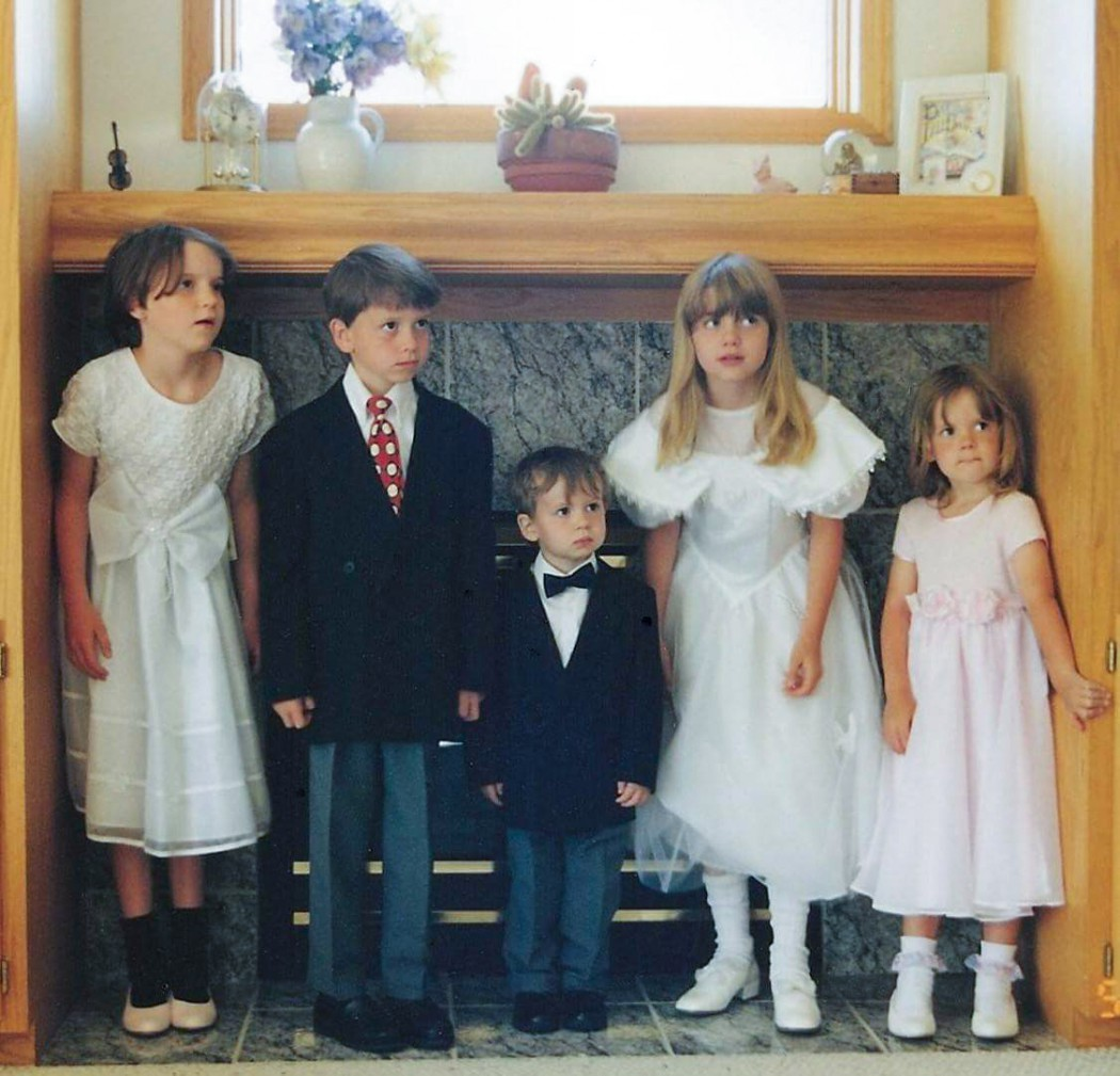Berit and four siblings growing up homeschooled