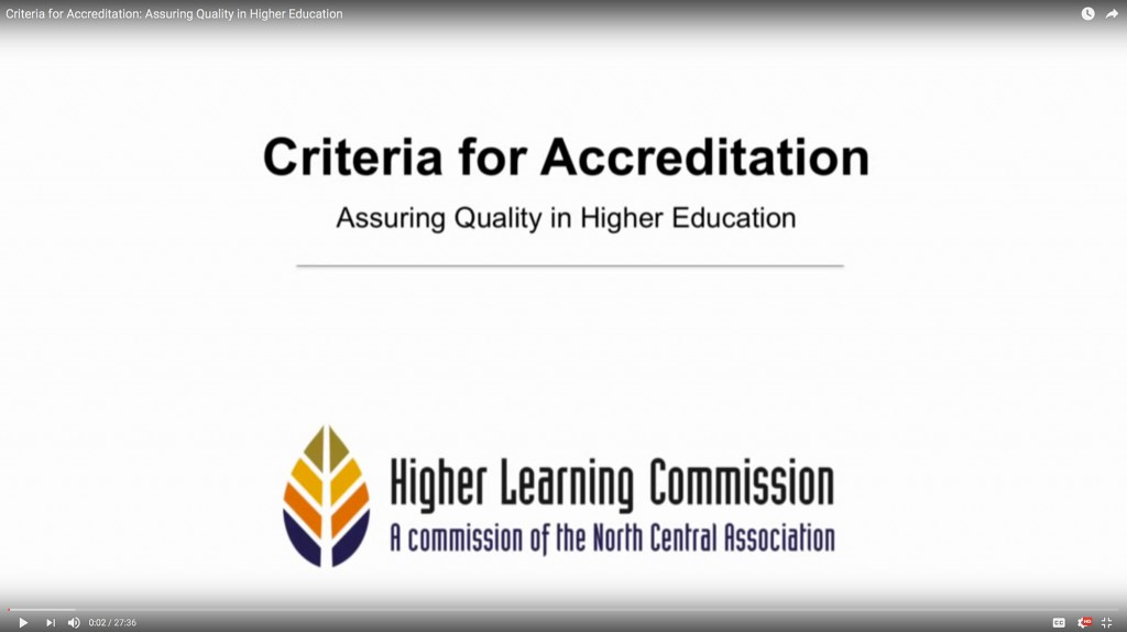 Criteria for Accreditation