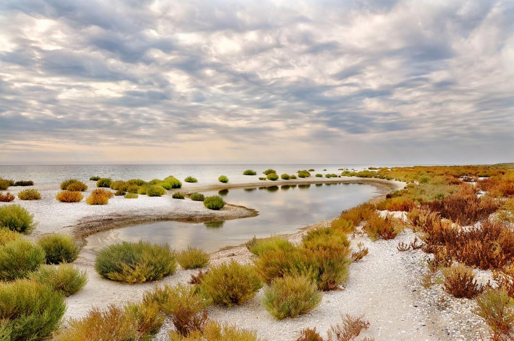 Kinburn sandbar on the Black Sea