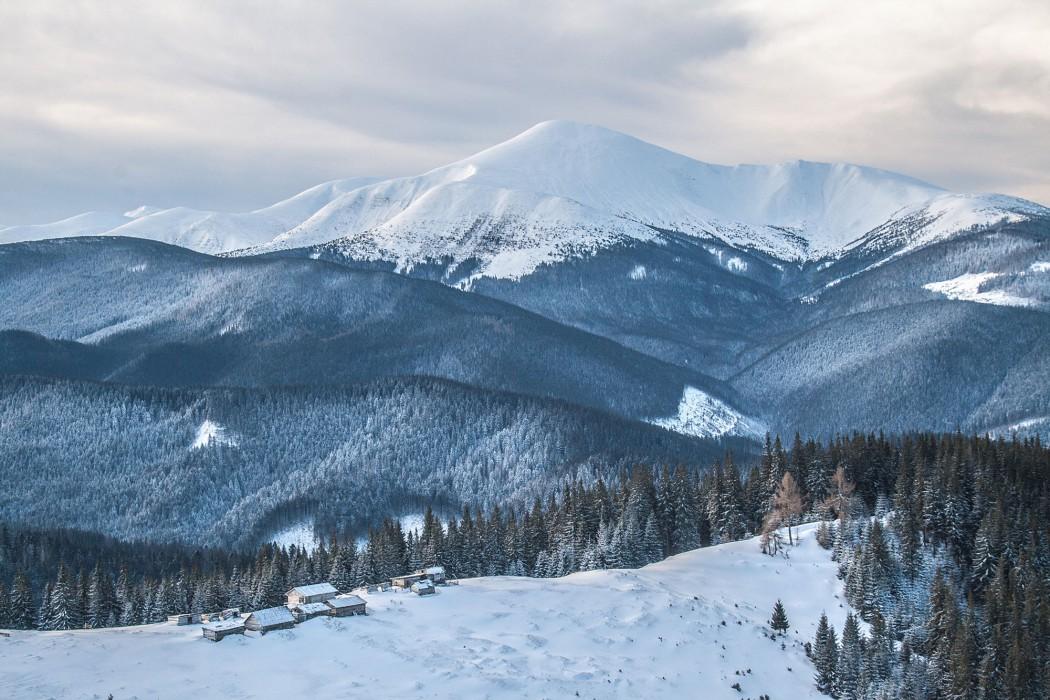 Mount Hoverla, highest peak in Ukraine