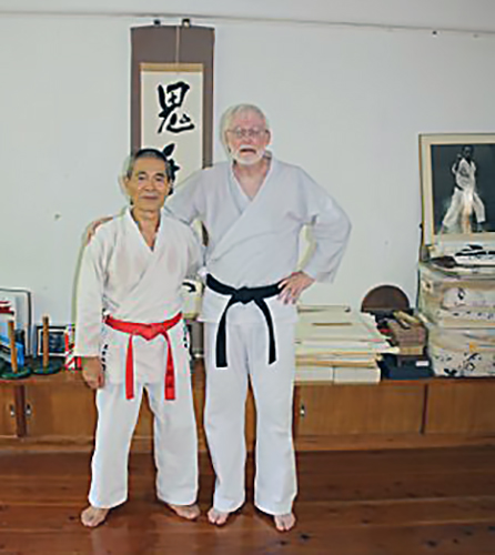 John with Maeshiro Morinobu