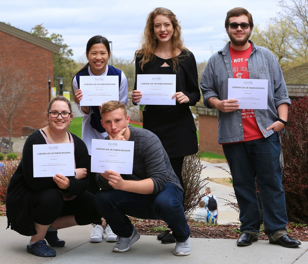 CareerWays Scholars: Allie Shoop, Phanny Phal, Zach Koestler, Emily Singerhouse, Bret Pietrzak