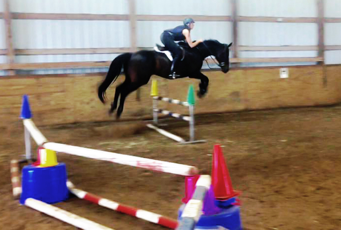 Show jumping with Ty