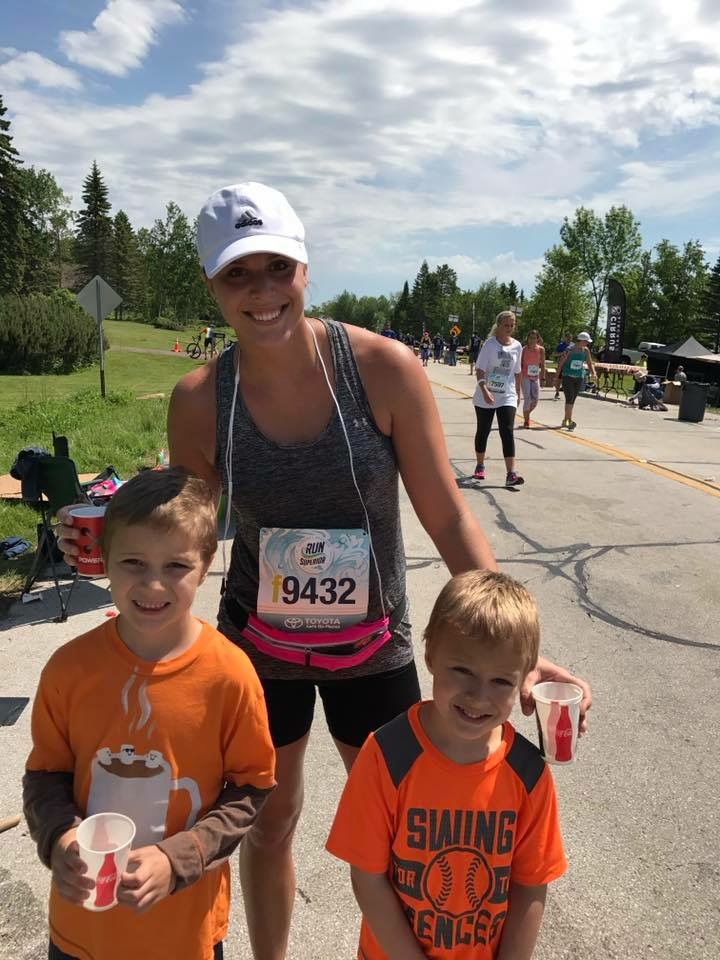 Grandma's Marathon at 17-mile mark