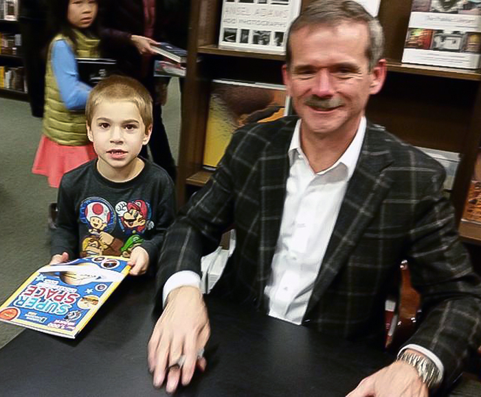 Jack with Canadian Astronaut Chris Hadfield