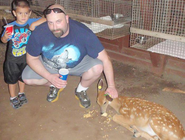 Dave with Zander
