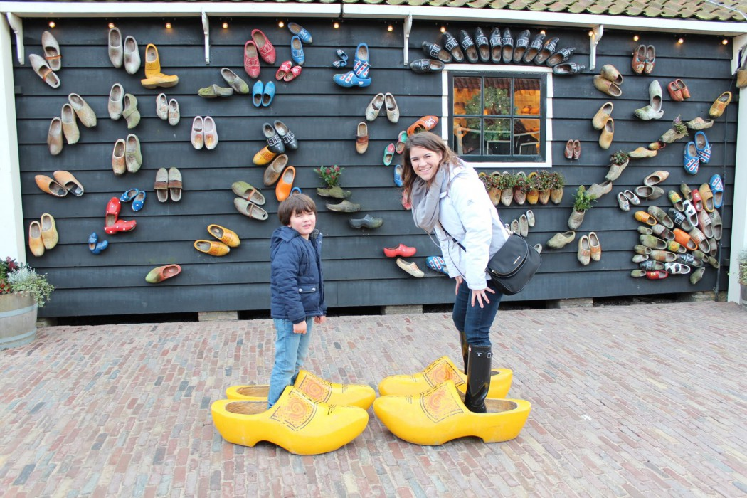 Michelle with nephew in the Netherlands