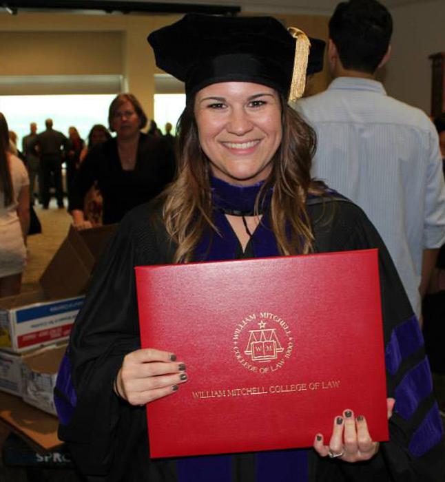 Michelle's law school graduation