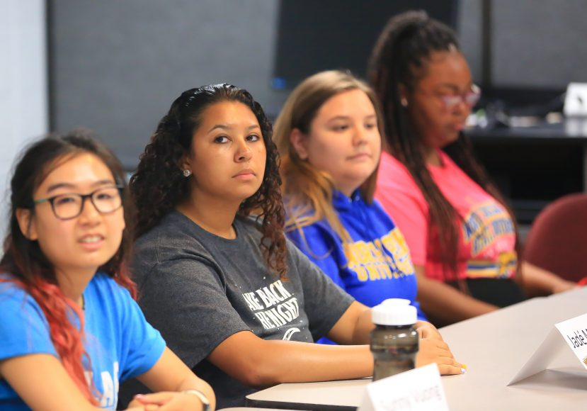 Jadé on TRIO UB alum panel during DCTC 2019 UB Summer Program