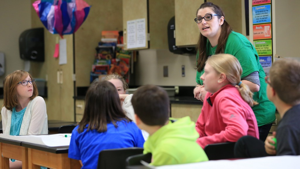 Kristin during Ag Roadshow at IGH Middle School