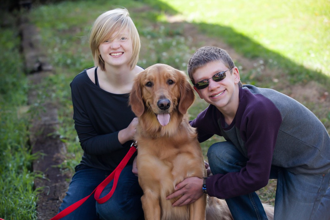 Jessica with Kona and her brother, Alex