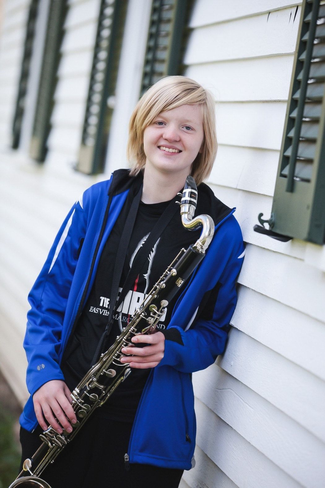 Senior year in high school with bass clarinet