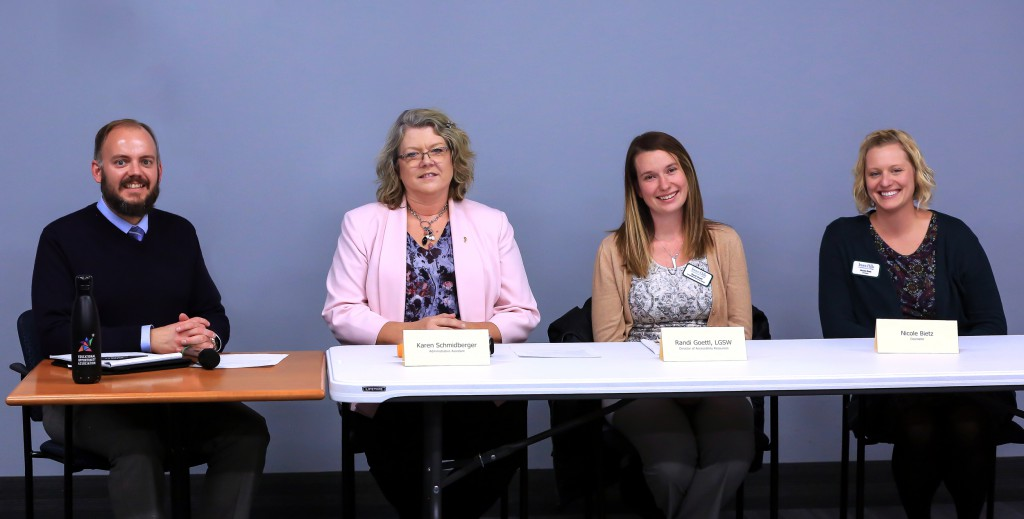 (left to right) Matt Kruger, Karen Schmidberger, Randi Goettl, Nicole Bietz