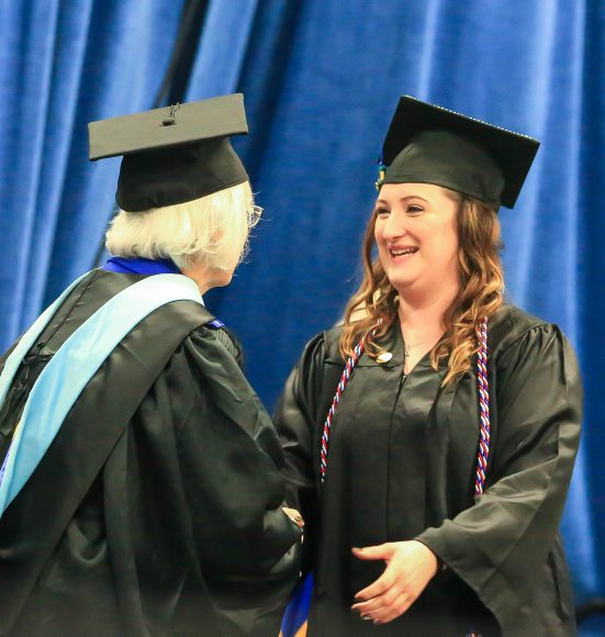 Kristine at 2018 Commencement Ceremony
