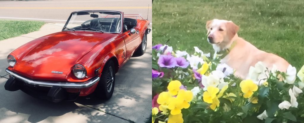 "1974 Triumph Spitfire ""Chili Pepper"" and Wendy"