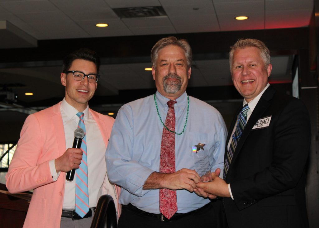 Mark with President Berndt and Cory Hepola at Joint Gala