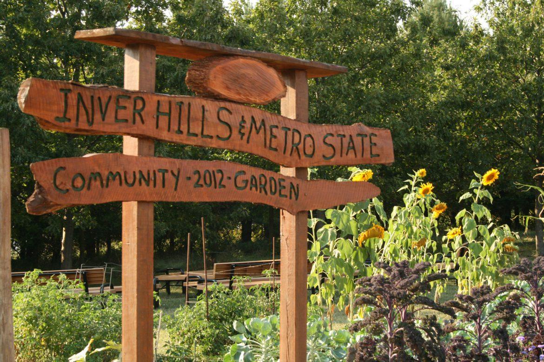 Inver Hills & Metro State Community Garden Sign