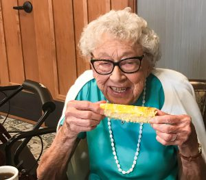 101-year-old Kate at Saint Therese