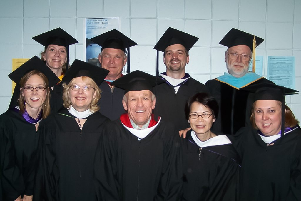 Mark with colleagues at 2007 Inver Hills Commencement