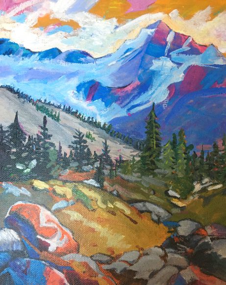 Painting by Abigail Dorn, Inver Hills art student | Art in Crisis Collection
