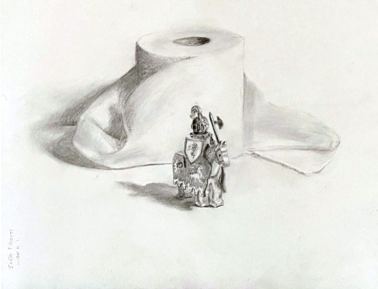 Drawing by Sara Tinetti, Inver Hills art student | Art in Crisis Collection
