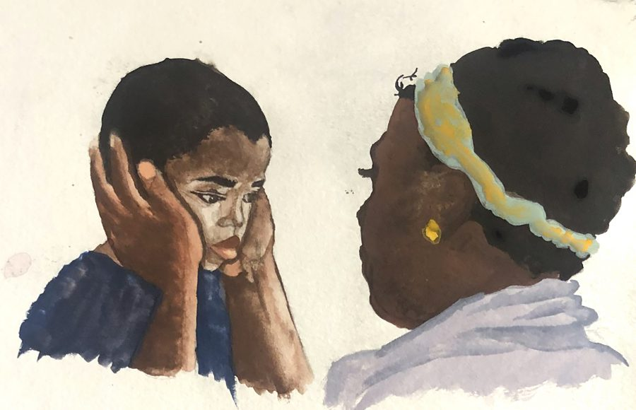 Painting by Sommer Olheiser, Inver Hills art student | Art in Crisis Collection