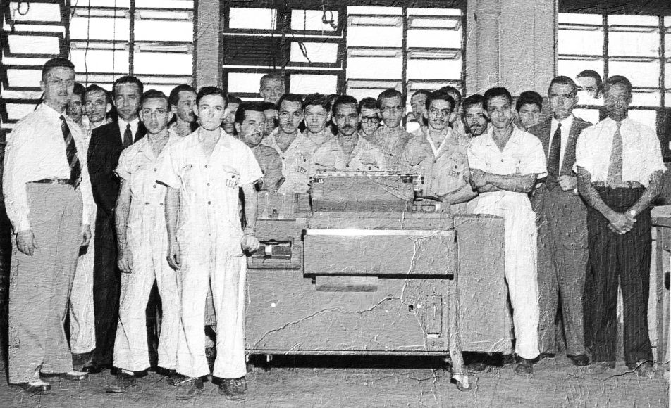 IBM employees with IBM 405 accounting machine | Rio de Janeiro, Brazil,1952